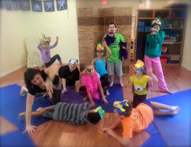 Picture of children doing Yoga Nidra, Yoga Nidra, and Kids Yoga.