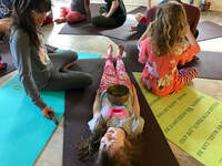Picture of child doing Yoga Nidra, Yoga Nidra, and Kids Yoga.
